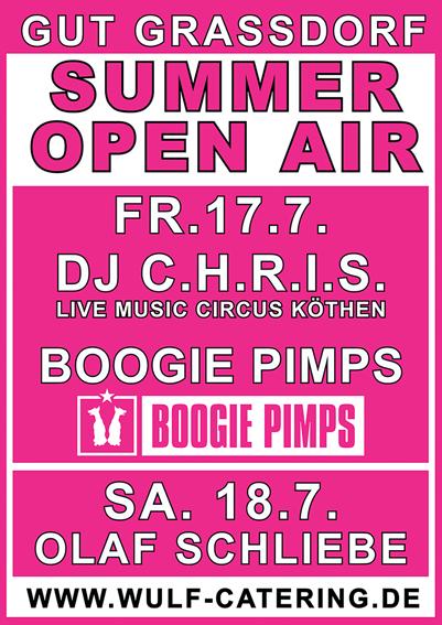 Summer Open Air mit den DJ C.H.R.I.S. und den Boogie Pimps und Olaf Schliebe